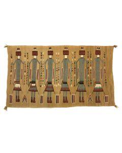 "Navajo Yei Pictorial Rug c. 1940s, 39"" x 67"" (T5446)"