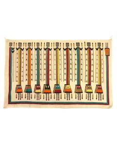 "Navajo Yei Pictorial Rug c. 1940s, 57"" x 91.5"" (T5448)"