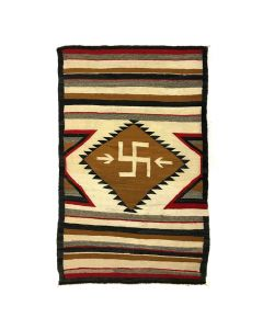 """Navajo Crystal Rug with Whirling Logs Design c. 1920s, 70"""" x 46.5"""" (T5449)"""