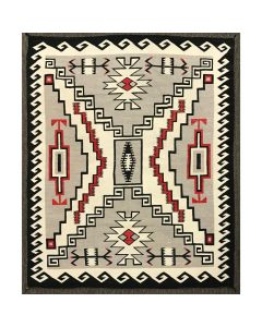 "Large Navajo Crystal Storm Pattern Rug c. 1930s, 106.5"" x 86.75"" (T5450)"
