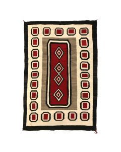 """Navajo Ganado Rug c. 1910-20s, 72"""" x 49.5"""" (T5461)"""
