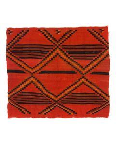 "Navajo Adolescent Chief's Variant Blanket c. 1890s, 43"" x 49"" (T5462)"