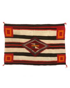 "Navajo Third Phase Chief's Variant Blanket c. 1890-1900s, 44"" x 72"" (T5472)"