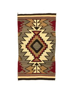 "Navajo Crystal Rug with Waterbugs c. 1915, 81"" x 46"" (T5480)"
