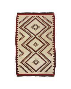 """Navajo Ganado Rug c. 1920s, 54"""" x 34"""" (T5485)"""