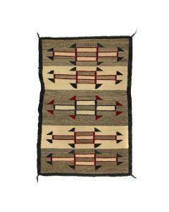 """Navajo Crystal Rug c. 1910s, 36"""" x 25.5"""" (T5490)"""