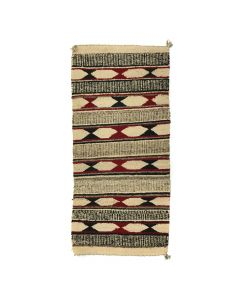 "Navajo Double Saddle Blanket c. 1920s, 44"" x 20"" (T5491)"
