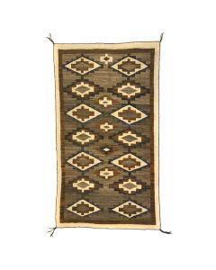 """Navajo Crystal Rug c. 1910s, 76.5"""" x 42"""" (T5506)"""