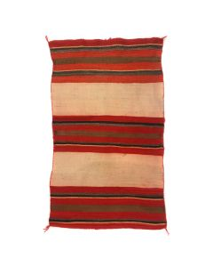 "Navajo Double Saddle Blanket c. 1890s, 56"" x 34"" (T5525)"