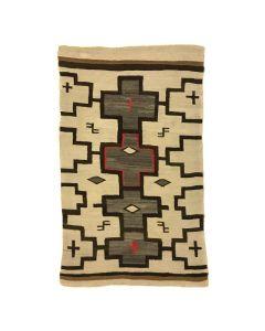 """Navajo Ganado Rug with Cross Designs c. 1920s, 72.5"""" x 45.5"""" (T5530)"""