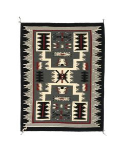 "Lot 318 - Marilyn Buckinghorse - Navajo Crystal Storm Pattern Rug c. 1990s, 70.5"" x 60"" (T5535)"