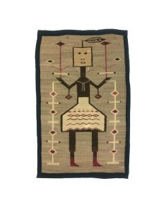 "Lot 322 - Navajo Single Figure Yei Rug c. 1910s, 62"" x 39"" (T5536)"