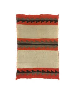"Navajo Child's Saddle Blanket c. 1890s, 46.5"" x 33.5"" (T5542)"