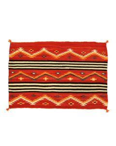"""Navajo Women's Chief Varient Blanket c. 1890-1900s, 47.5"""" x 65.5"""" (T5555)"""