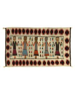 "Navajo Yei Pictorial Rug c. 1940s, 45.5"" x 74"" (T5596)"