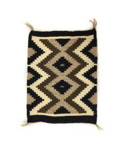 """Navajo Crystal Rug c. 1960s, 22.5"""" x 17"""" (T5602)"""