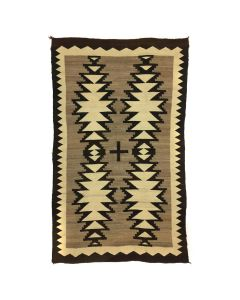 "Navajo Crystal Rug with Central Cross, c. 1900-10s, 76.5"" x 47"" (T5609)"