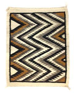 """Navajo Crystal Rug c. 1940-50s, 36.25"""" x 38.5"""" (T5639)"""