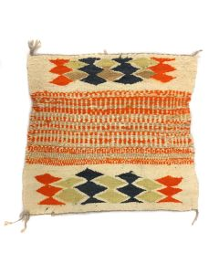 """Navajo Sampler, Youth's First Weaving, Ismay Trading Post, c. 1970s, 19.25"""" x 21.25"""" (T5646)"""