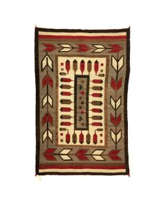 """Navajo Crystal Rug, c. 1915, 74"""" x 49"""" (T5654)"""