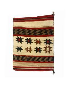 "Navajo Ganado Rug with Valero Stars c. 1910-20s, 55"" x 45"" (T5671)"
