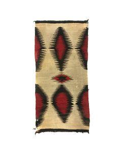 """Navajo Ganado Rug c. 190-20s, 57.5"""" x 28"""" (T5679)"""