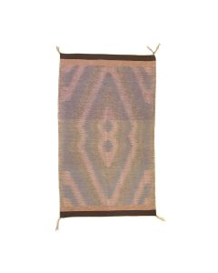 """Navajo Burntwater Rug with Raised Outline c. 1980s, 42.5"""" x 25"""" (T5703)"""