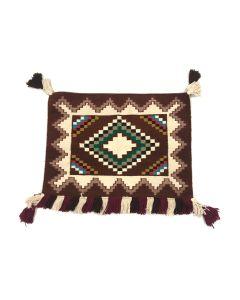 """Navajo Single Saddle Blanket c. 1960s, 26"""" x 36"""" (T5711)"""