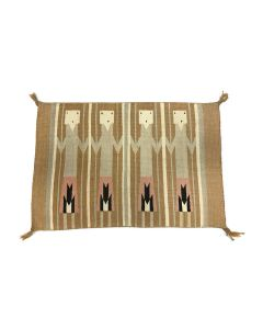 "Navajo Yei Pictorial Rug c. 1960s, 17.5"" x 27"" (T5719)"