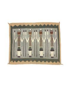 "Navajo Yei Pictorial Rug c. 1960s, 26"" x 32"" (T5721)"
