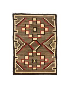 """Navajo Ganado Rug c. 1910s, 63.5"""" x 46.5"""" (T5756)"""