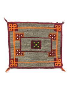 """Navajo Single Saddle Blanket c. 1910s, 26.5"""" x 31"""" (T5784)"""