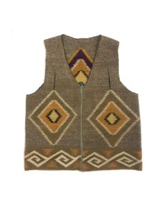 """Navajo Vest c. 1970-80s, 25"""" x 21"""" (T5787)"""
