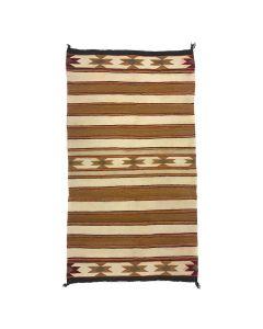 """Navajo Double Saddle Blanket c. 1940-50s, 58"""" x 30"""" (T5790)"""