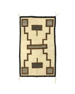 "Navajo Crystal Storm Pattern Rug c. 1950s, 46"" x 28.5"" (T90209C-1120-004)"