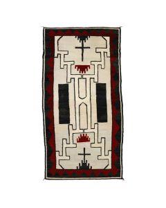 "Navajo Crystal Storm Pattern Rug c. 1930s, 91"" x 50"" (T90214C-0421-001)"