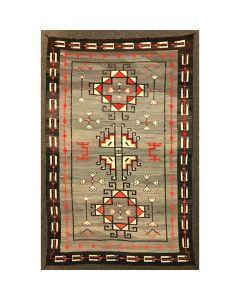"Large Navajo Teec Nos Pos Rug c. 1920s, 127.5"" x 84.5"" (T90247B-0815-115)"