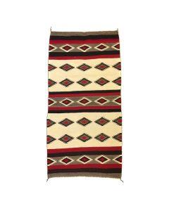 "Navajo Red Mesa Rug c. 1930s, 58"" x 31.5"""