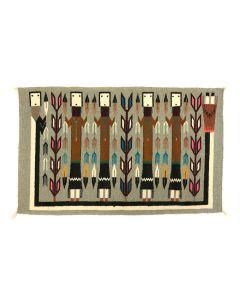 "Navajo Yei Pictorial Rug c. 1970-80s, 24"" x 38"" (T90253B-0220-009)"