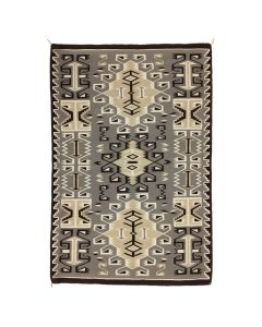 "Navajo Two Grey Hills Rug c. 1970s, 67.25"" x 46.5"" (T90253B-0320-003)"