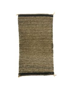 """Navajo Double Saddle Blanket with Twill Weave c. 1930s, 43"""" x 24"""" (T90253B-0721-001)"""