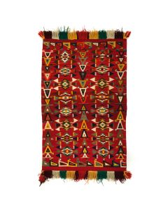 "Navajo Germantown Rug c. 1890s, 55"" x 35"" (T90293B-0120-001) 1"