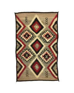 """Navajo Crystal Rug, c. 1920, 93"""" x 58"""""""