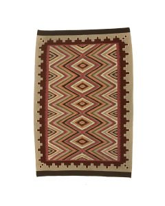 "Minnie Corn - Navajo Red Mesa Rug c. 1970-80s, 69.5"" x 47"""