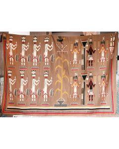 "Navajo Yei Rug by Mellisa Sorrell of Crystal, Arizona, c. 1967, 120"" x 81.25"""
