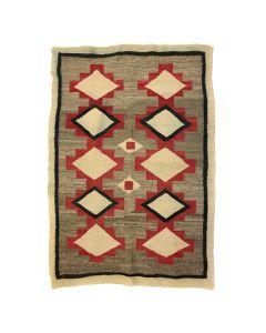 """Navajo Ganado Rug c. 1910-20s, 57"""" x 38"""" (T90594-1219-003)"""