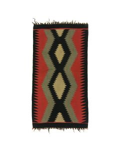 "Lot 330 - Navajo Germantown Blanket c. 1890s, 35"" x 18.75"" (T90725A-0820-002)"
