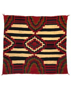 "Navajo Third Phase Chief's Blanket c. 1890-1900s, 56.5"" x 64.25"" (T90771A-0221-001)"