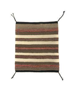 """Navajo Single Saddle Blanket c. 1990s, 30.75"""" x 26.75"""" (T90814-0920-013)"""