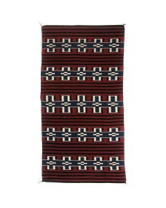 "Navajo Moki Revival Runner with Cross Designs c. 2000s, 142"" x 70"" (T90816B-0616-108)"